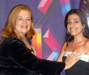 """Damaris Ureña y yo, cuando nos prometimos """"muy a pecho"""" luchar contra el cáncer. 2009"""